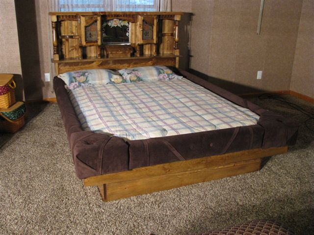 5 Way Hardside Waterbed Padded Rails