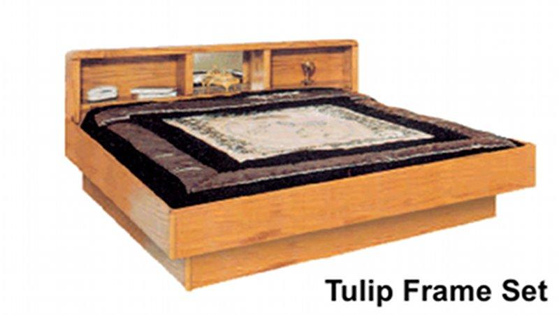 La Jolla Tulip Oak Headboard and Frame