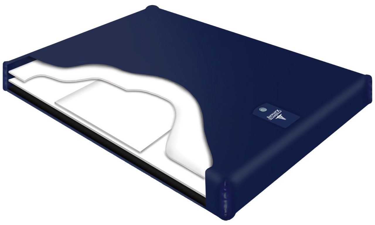 Semi Waveless Fluid Chamber Series 200 Mid Fill Softside Waterbed Bladder by Innomax