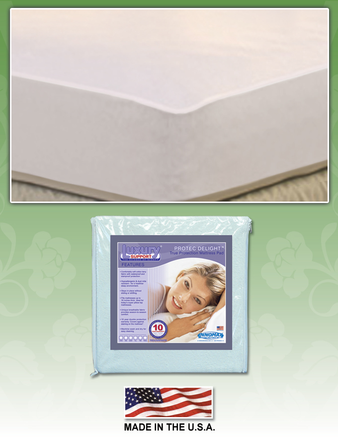 Pro Tec Delight Mattress Pad by Innomax