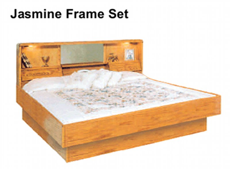 La Jolla Jasmine Oak Headboard and Frame