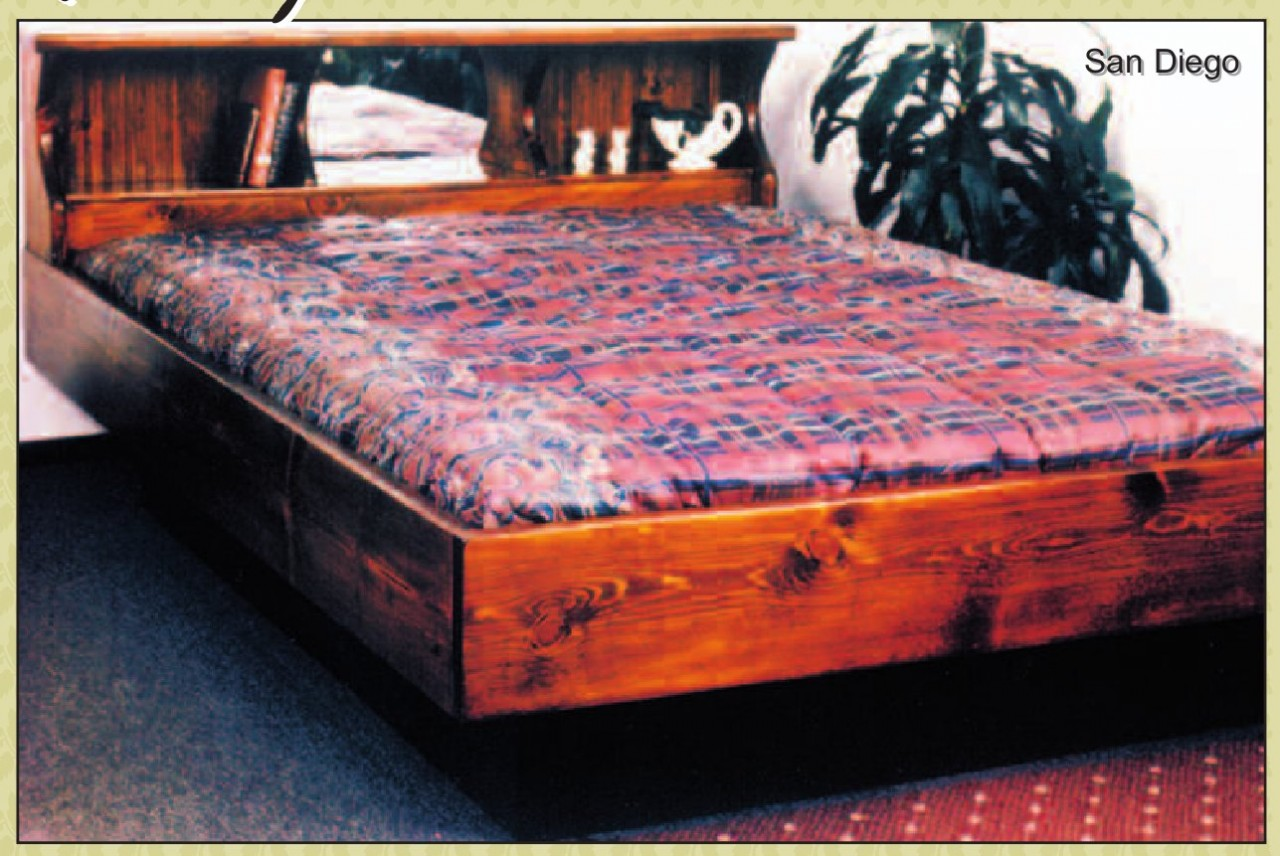 San Diego Solid Pine Hardside Waterbed Base Set